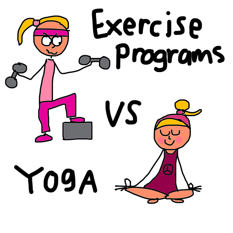 exercise versus yoga