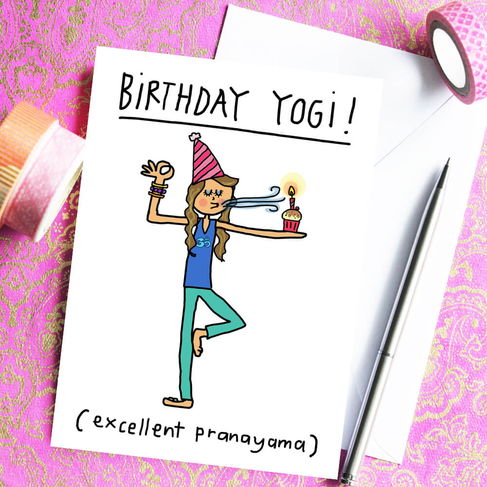 Birthday Yogi Greeting Card