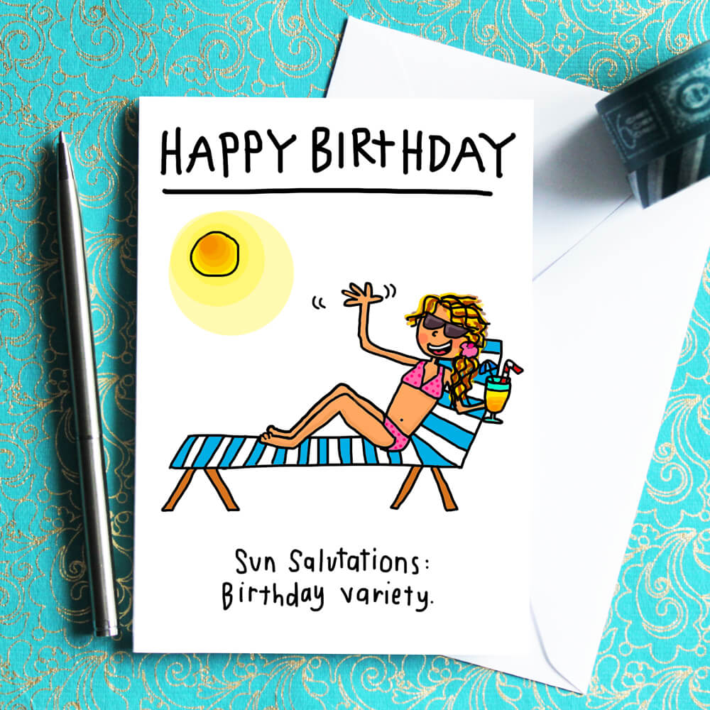Sun Salutations Birthday Card